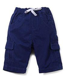 Babyoye Drawstring Shorts With Pockets - Navy Blue