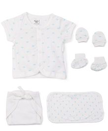 M&M Baby Basic Multi Pieces Set Pack Of 7 - White