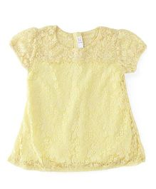M&M Short Sleeves Top - Yellow