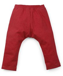 M&M Full Length Leggings With Drawstring - Red