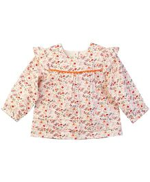 Babyoye Full Sleeves Floral Printed Top - Multi Color