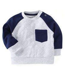M&M Sweatshirt With Track Pant Set - White & Navy