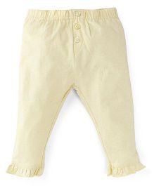 M&M Infant Shimmer Leggings - Lemon Yellow