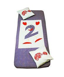 Kadambaby Cotton Bedspread Dancing Two - Purple