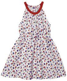 Babyoye Floral Print Dress - Multi Color