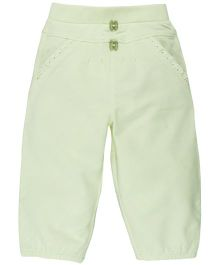 M&M Infant Lounge Pant With Lace Detailing On Pocket - Light Green