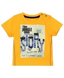 M&M Half Sleeves T-Shirt Graphics Print - Yellow