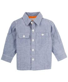 M&M Infant Shirt With Chambray - Blue Grey
