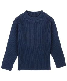 M&M Infant Girls Round Neck Sweater - Navy