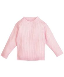 Babyoye Infant Round Neck Sweater - Baby Pink