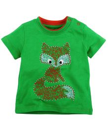 Babyoye  Printed Short Sleeves Tee - Green