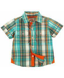 Babyoye Madras Checkered Half Sleeves Shirt - Multi Coloured