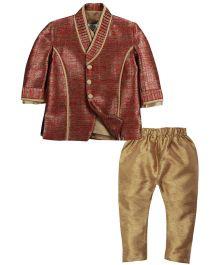 Babyoye Kurta Pajama With Jacket - Multi Colour