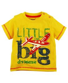 Babyoye Big Dreams Printed Short Sleeves T-Shirt - Yellow