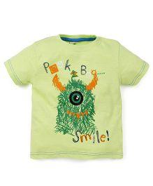 Babyoye Peek-a-Boo Printed Short Sleeves T-Shirt - Green