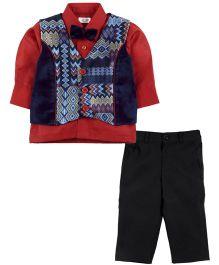 M&M Vest Suit with Trouser - Multi Colour