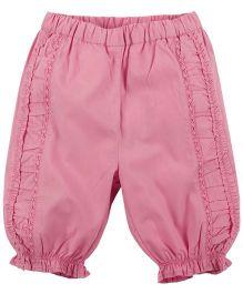 Babyoye Frilled Hem Pant - Pink