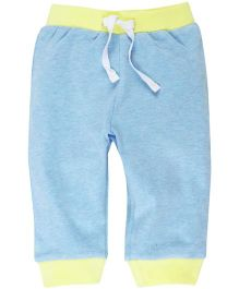 Babyoye Solid Pattern Lounge Pant With Ribbed Hem - Sky Blue