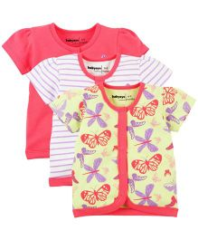 Babyoye Infant Jhabla Pack Of 3 - Multi Coloured