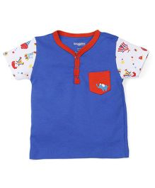 Snuggles Half Sleeves T-Shirt - Blue