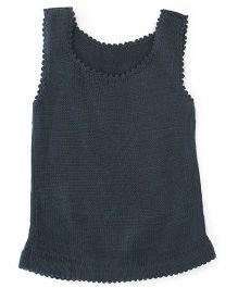 Babyoye Sleeveless Sweater - Grey