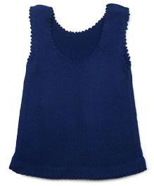 Snuggles Sleeveless Sweater - Blue