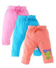 Snuggles Full Length Track Pants Pack Of 3 - Multicolor