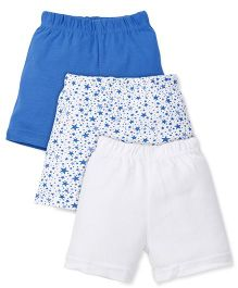 Baby Pure Shorts Pack Of 3 - Blue & White