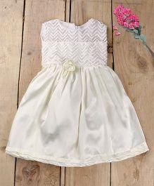 Tiny Toddler Sleeveless Dress - White
