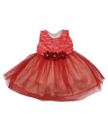 Tiny Toddler Sleeveless Dress - Red
