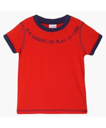 FS Mini Klub Knit Half Sleeves T-Shirt - Red