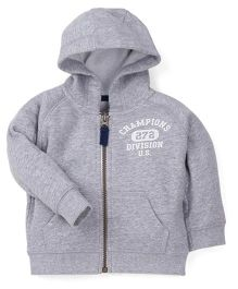 Carter's Full Sleeves Hooded Sweat Jacket - Grey