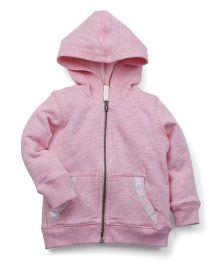 M&M Full Sleeves Hooded Sweatjacket - Pink