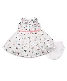 Carter's Butterfly Sateen Dress