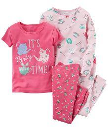 Carter's 4-Piece Snug Fit Cotton PJs - Pink