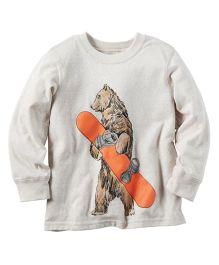 Carter's Long-Sleeve Snowboard Bear Graphic Tee