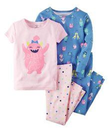 Carter's 4-Piece Snug Fit Glow-In-The-Dark Cotton PJS