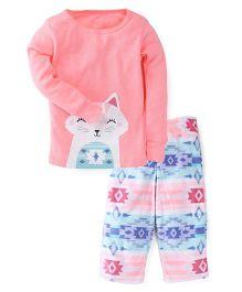 Carter's 2-Piece Neon Cotton & Fleece PJs