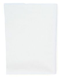 Quick Dry Bed Protector Sheet Small  - White