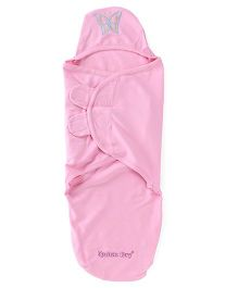 Cocoon Hooded Baby Wrapper - Pink