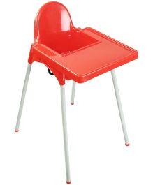 Babyoye Becky Non Adjustable Highchair - Red