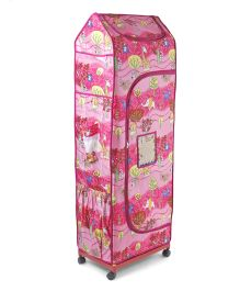 Kudos Wardrobe With Wheels Wonder Cub 5 Shelf - Pink