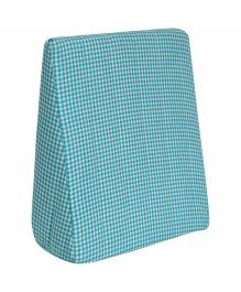 M&M Wedge Support Pillow Checks Pattern - Blue