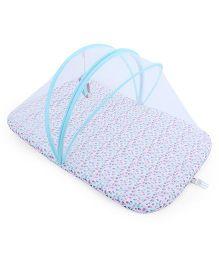 Babyoye Bed With Net - Sky Blue
