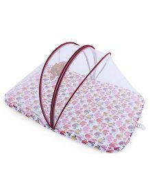 Babyoye Bed With Net - Maroon Pink