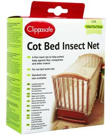 Clippasafe Cot Bed Insect Net - Multi Colour
