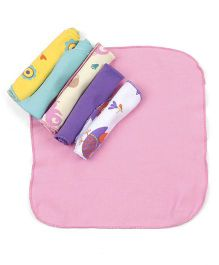 Snuggles Face Cloth Pack Of 6 - Multicolor