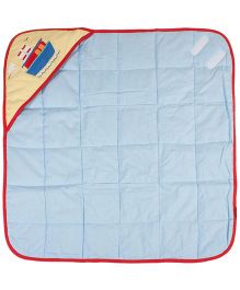 M&M Hooded Baby Wrapper - Blue