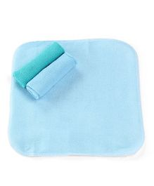Honey Bunny Wash Cloths Pack of 3 - Blue Green