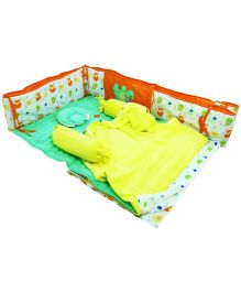 M&M Infant Baby Bedding Set Multicolor - Set Of 7